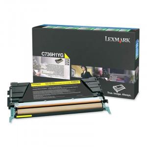 Toner Lexmark Original C736dn Amarelo - C736H1YG  – Clubedoescritorio.com.br