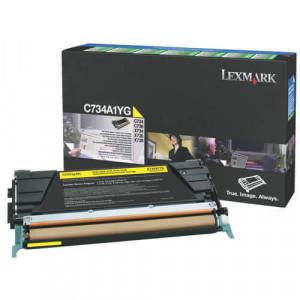 Toner Original C734dn Amarelo - C734A1YG Lexmark - clubedoescritorio.com.br