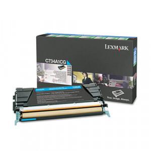 Toner Original C734dn Ciano / Azul – C734A1CG Lexmark - clubedoescritorio.com.br