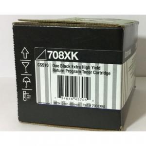 Toner Original Lexmark 708XK 70C8XK0 Preto Com Garantia de 1 ano – Clubedoescritorio.com.br