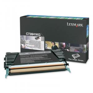Toner Original C736dn Preto - C736H1KG Lexmark - clubedoescritorio.com.br